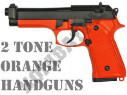 2 Tone Orange Airsoft Handguns
